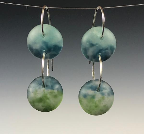 Two Drop Art Glass Earrings