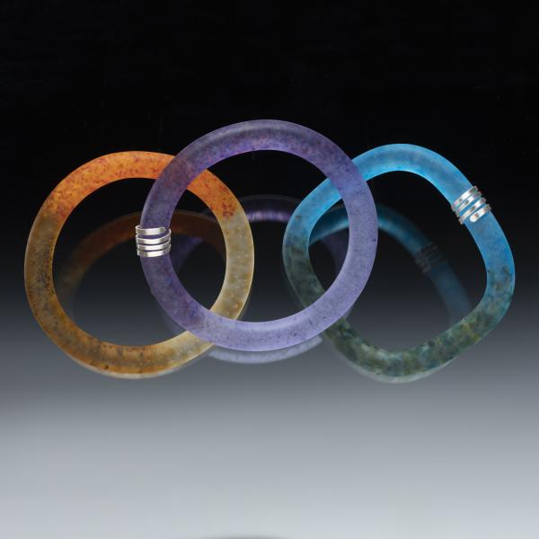 Art Glass Bangle Bracelets
