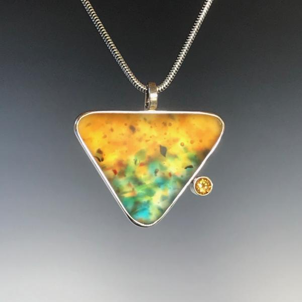 Triangle Pendant with Citrine