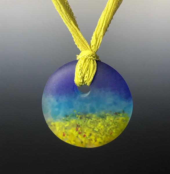 Pate de Verre Cast Glass Pendant
