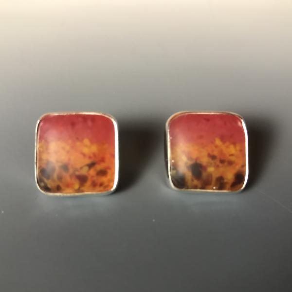 Square Bezel set Earrings