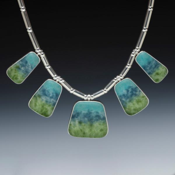 Five Piece Art Glass Necklace