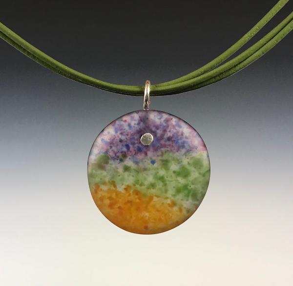 Landscape Art Glass Pendant Necklace