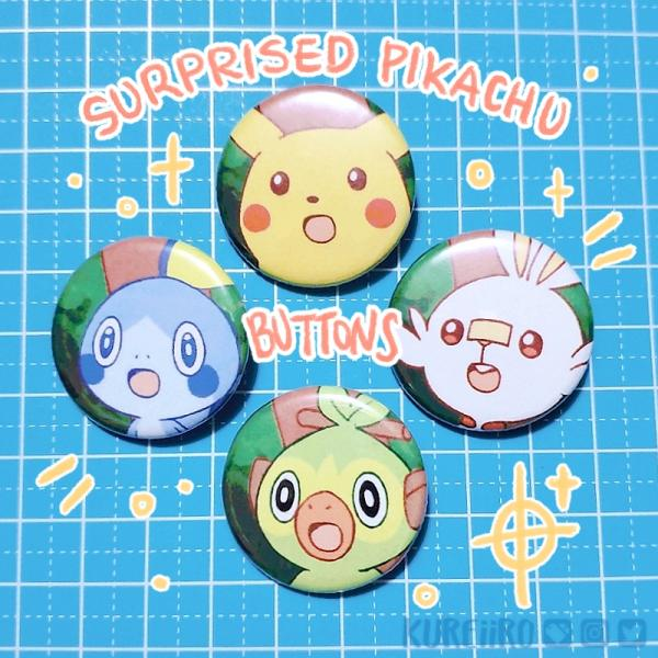 Surprised Pikachu Buttons