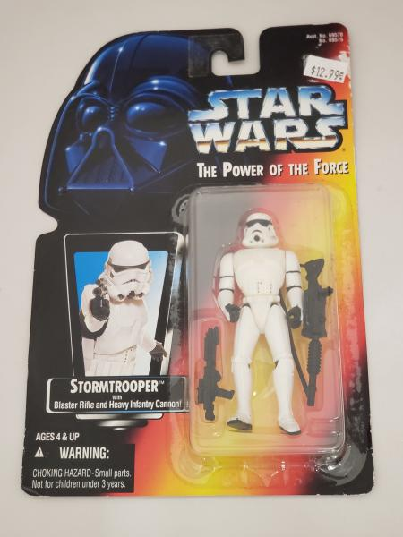 Stormtrooper with Blaster Rifle and Heavy Infantry Cannon Star Wars Power of the Force