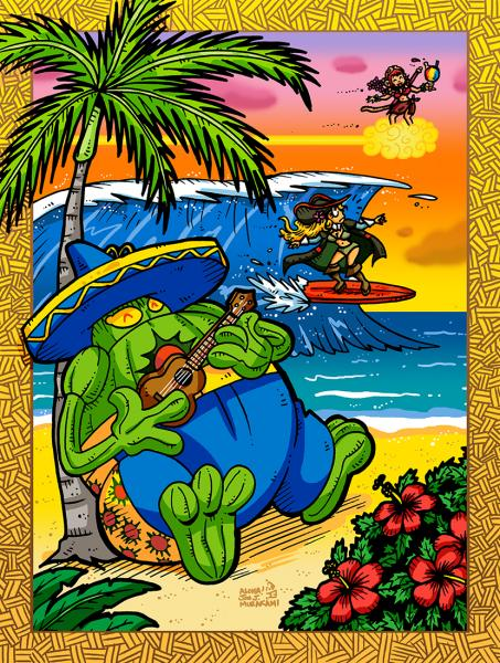Prints: Capcom Fighting Tribute: Hawaii Vacation 2015 print