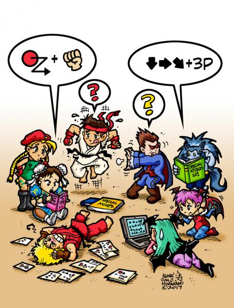 Prints: Street Fighter vs Dark Stalkers: Remember Trying to Learn all the Special Moves?