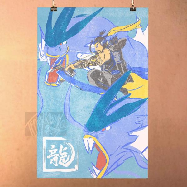 Hanzo Gyrados - Overwatch Print Poster