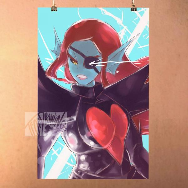 Undyne the Undying - Undertale Print Poster