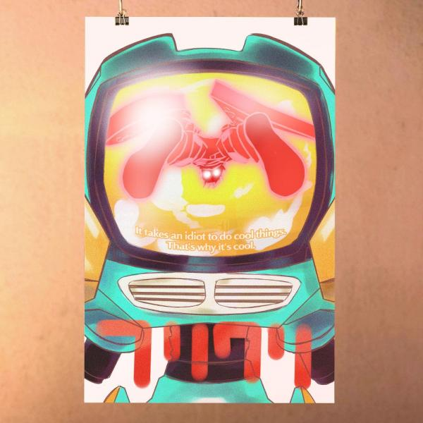 FLCL - Fooly Cooly Print Poster