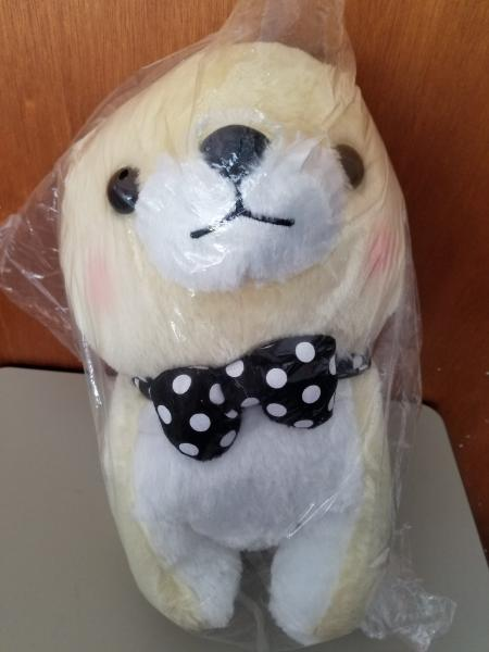 Mameshiba polka dot tie dog plush