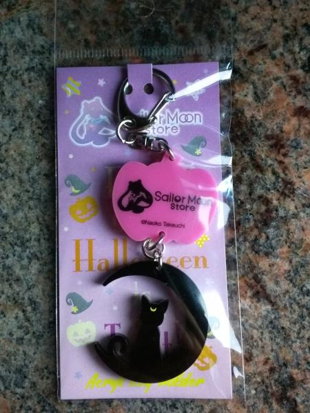 Sailor Moon Store Halloween Luna keychain