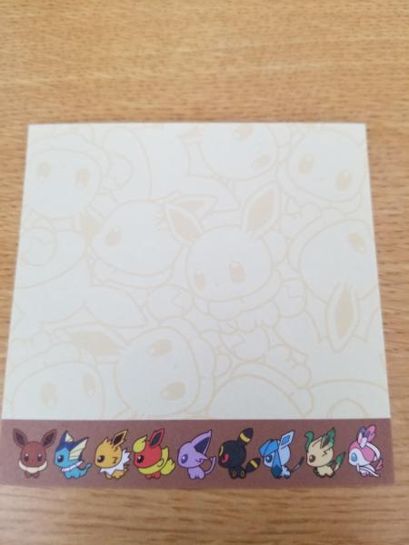 Pokemon Eevee Eeveelutions paper sheets