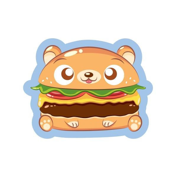 Cheesebearger Sticker
