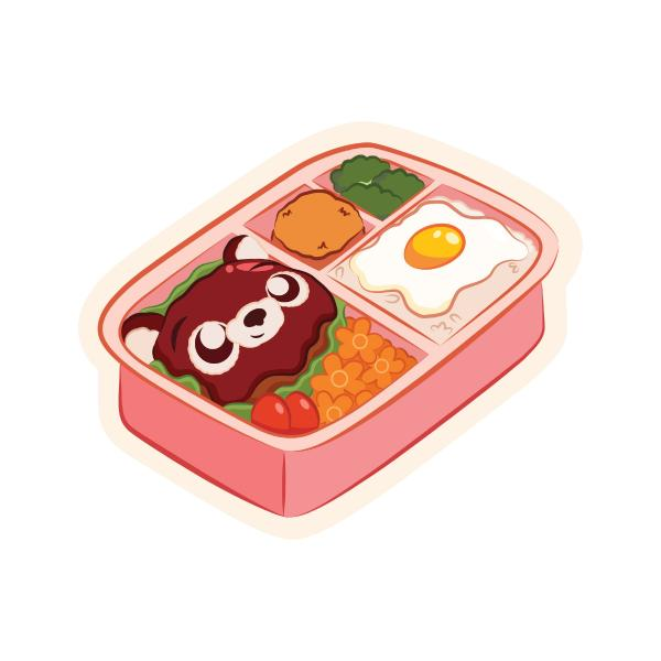 Hambearger Steak Bento Sticker