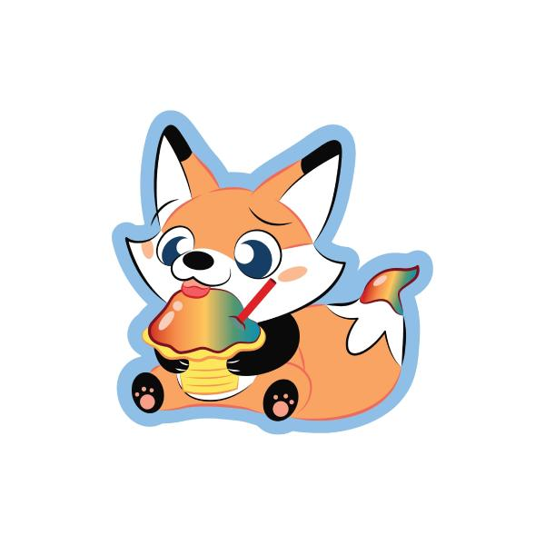 Cute Loot Shave Ice Sticker