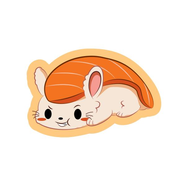 Salmon Bunnigiri Sticker picture