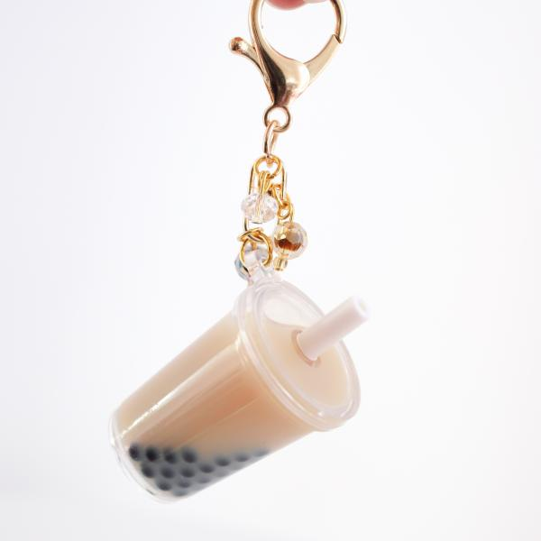 Brown Boba Bubble Tea Keychain picture