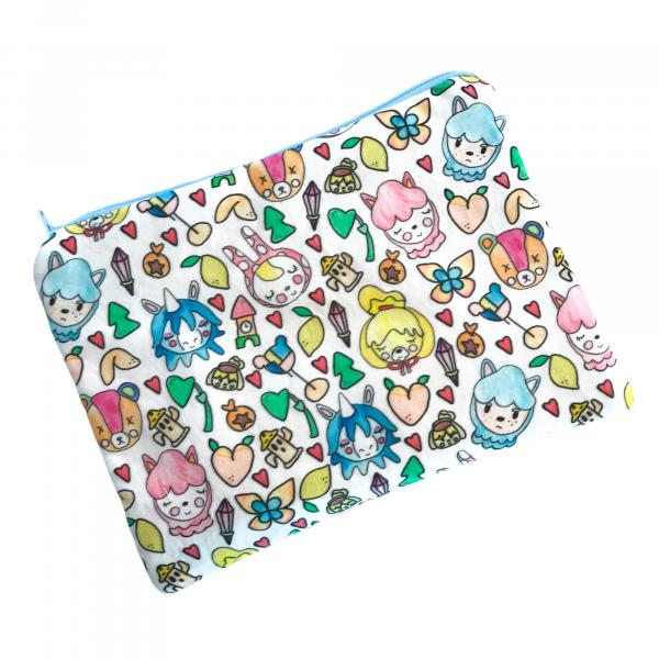 Animal Crossing Zippered Pouch Bag