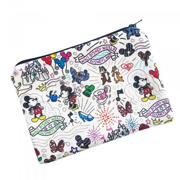 Disney Doodle Zippered Pouch Bag