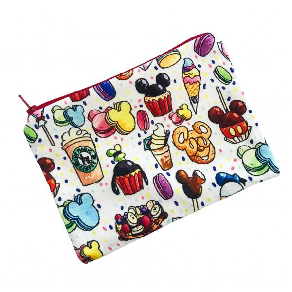 Disney Snacks Themed Zippered Pouch Bag