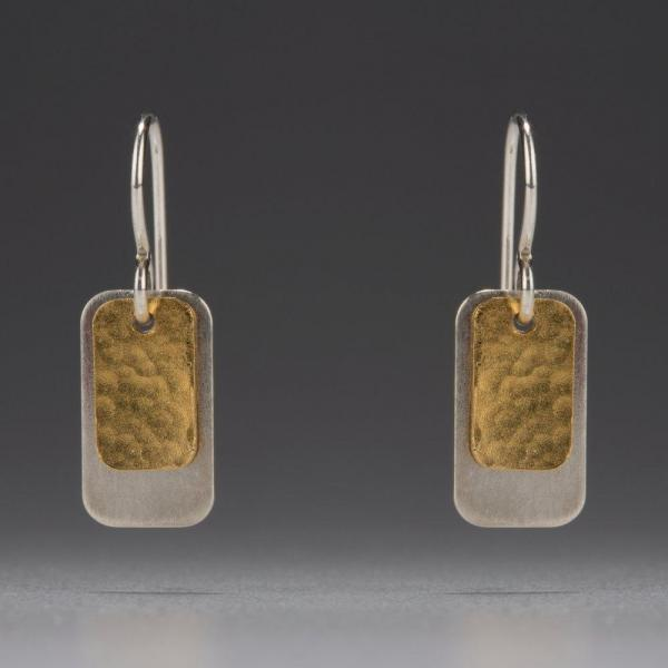 Gold Vermeil-Sterling Silver-Rectangle-Earrings