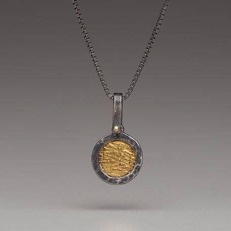 Gold Vermeil-Sterling Silver-Circle-Necklace