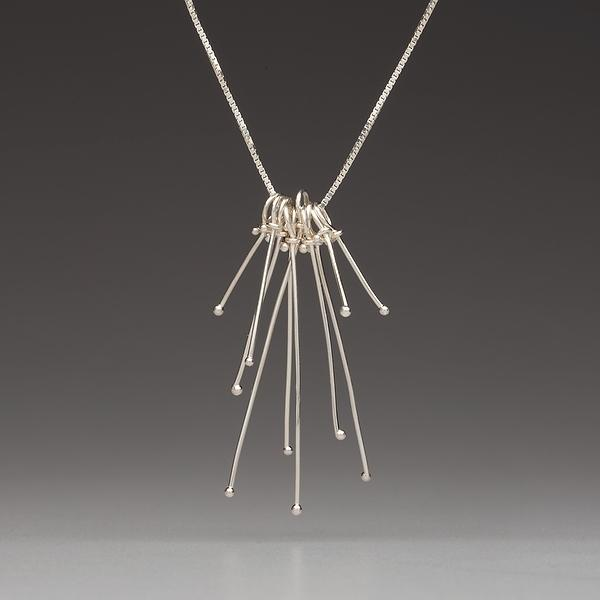 Sterling Silver-Delicate Drop-Necklace