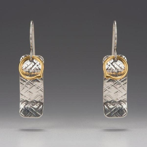 Gold Vermeil-Sterling Silver-Rectangle Earrings