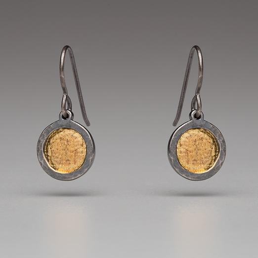 Gold Vermeil-Sterling Silver-Circle-Earrings