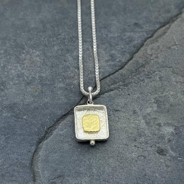 Gold Vermeil-Sterling Silver-Reversible-Necklace