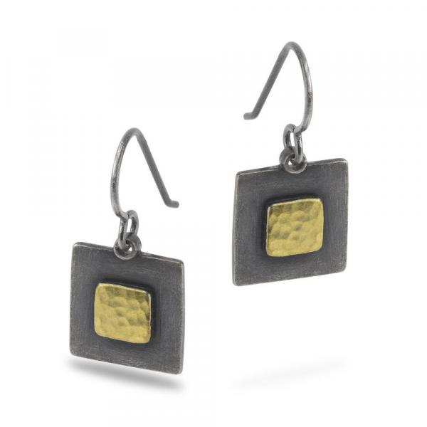 Gold Vermeil-Sterling Silver-Square-Earrings