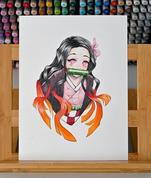 Nezuko ORIGINAL - COPIC MARKER