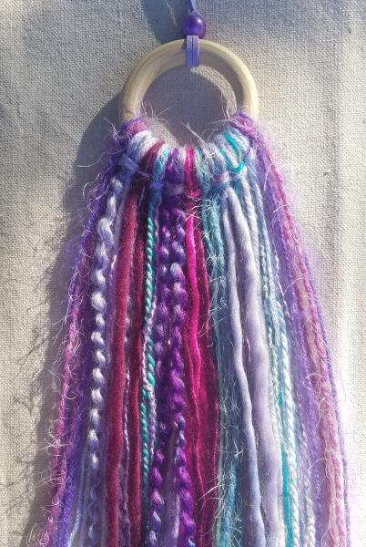 colorful purple + teal + magenta + maroon minimalist dream catcher (sku282) picture