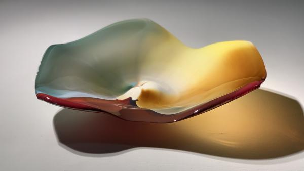 Blown glass platter