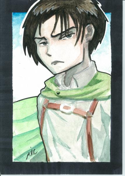 5x7 water color. Levi