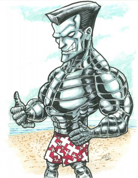 8.5x11 Colossus at the beach