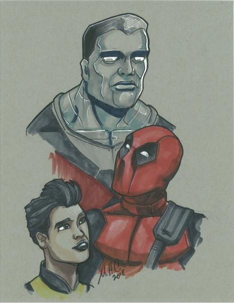 8.5x11 Deadpool trio