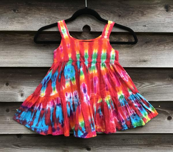 SIZE 2 Rainbow and Cherry Strata Girl's Gauzy Garden Dress