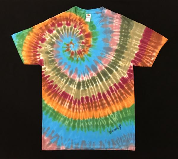 SIZE MEDIUM New Fall Shoulder Spiral Custom Tee picture