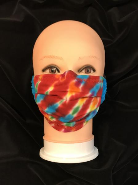 Rainbow and Cherry Strata Adjustable Mask
