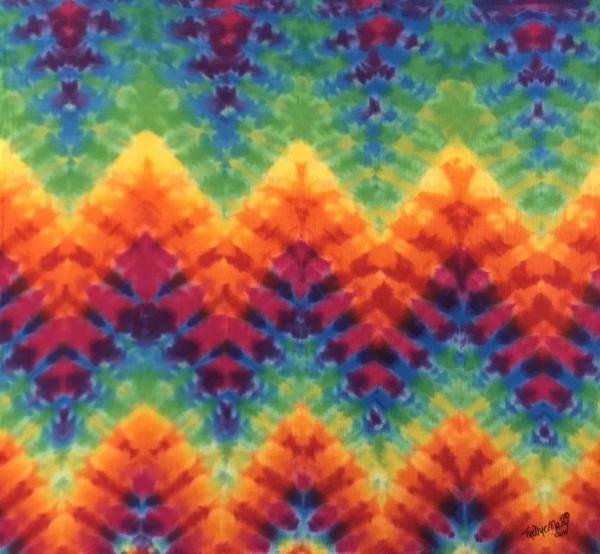 "32"" X 30"" Rainbow Mountains Flour Sack Tapestry picture"