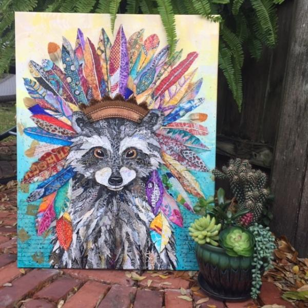 Tribal Racoon picture