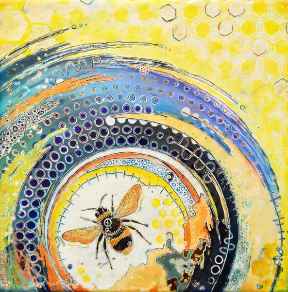 Bee Vortex (Small Reproduction on Paper)