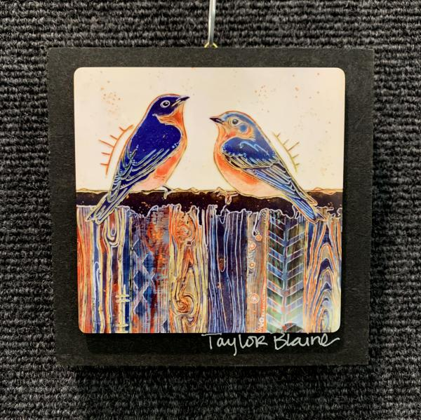 Two Birds on Metal (4x4)