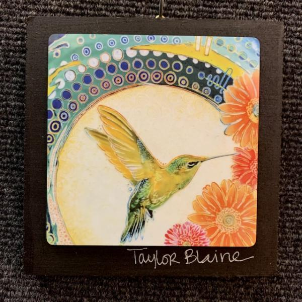 Hummingbird on Metal (4x4)