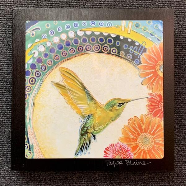 Hummingbird on Metal (8x8)