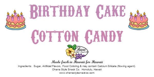 Birthday Cake Cotton Candy picture