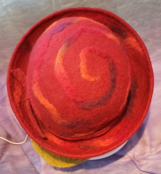 Spiral Brick Red Wide Brim
