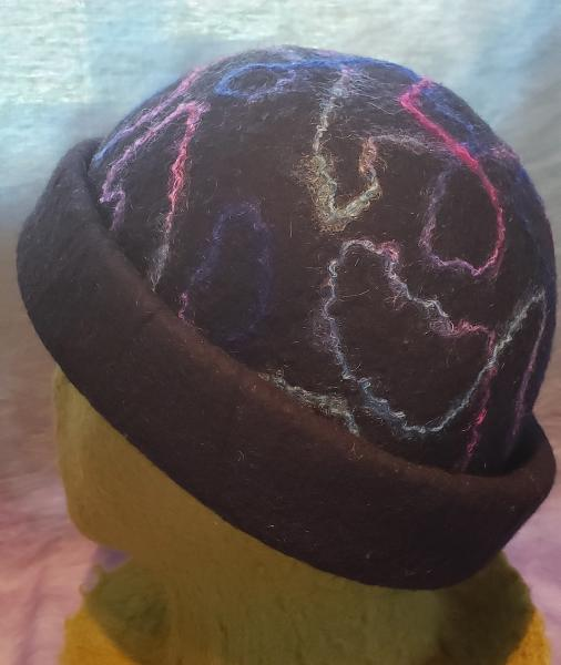 Black Rolled Brim with Mohair Swirl picture